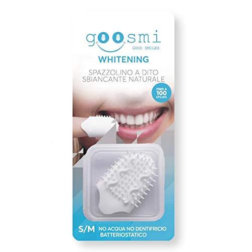 Goosmi Whitening - Spazzolini a dito sbiancante naturale. Senza acqua e senza dentifricio (S/M)