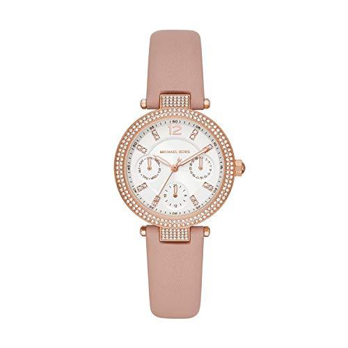 Michael Kors Reloj Analógico para Señoras de Cuarzo con Correa en Cuero MK2914