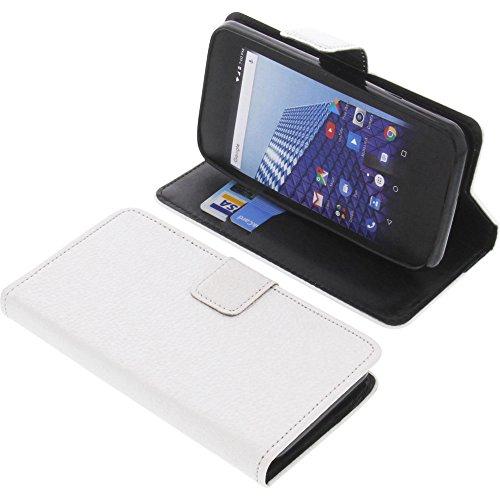 foto-kontor Tasche für Archos Access 45 4G Book Style weiß Schutz Hülle Buch