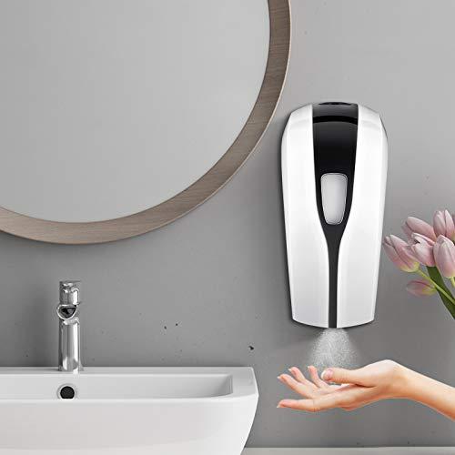 S SMAUTOP Dispenser Automatico Disinfettante per Mani a Parete 1000ML Dispenser di Spray Alcool Sapone a Sensore Infrarosso Touchless per Cucina, Bagno, Ufficio, Scuola, Commerciale