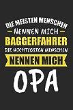 Die Meisten Menschen Nennen Mich Baggerfahrer Die Wichtigsten Menschen Nennen Mich Opa: Sachsen & Ossi DDR Notizbuch 6'x9' Kalender Geschenk für Ostalgie &...