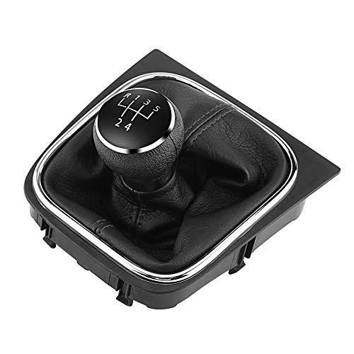 Schaltknauf-5 Gang Schalthebel Kopf Schalthebel Gaiter Boot Kit Kompatibel mit Golf 6 MK5 MK6 Jetta 2005-2014