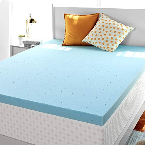 RUUF Memory Foam Mattress Topper, High Density Mattress Pad (2 inch, Twin)
