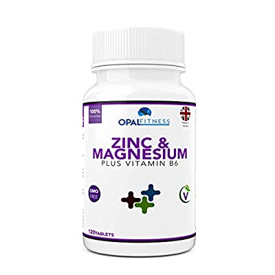 Zinc and Magnesium Tablets | 120 Tablets | With Added Vitamin B6 | Sports Performance and Recovery Formula | OSHUNsport by Opal Health