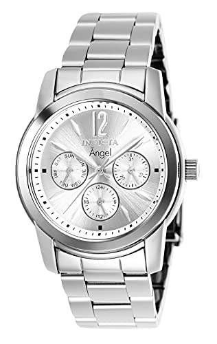 Invicta Women's Angel Stainless Steel Quartz Watch, Silver (Model: 0461)