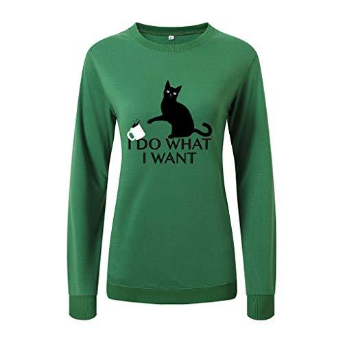 Sale!! HNTDG Fashion Women O-Neck Long Sleeve Print Letter Ladie Loose Top Pullover Sweatshirt Blous...