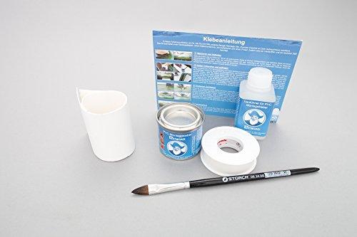 Set: Hengelhouder lus + lijm kit, om op te plakken voor rubberboten (wit)