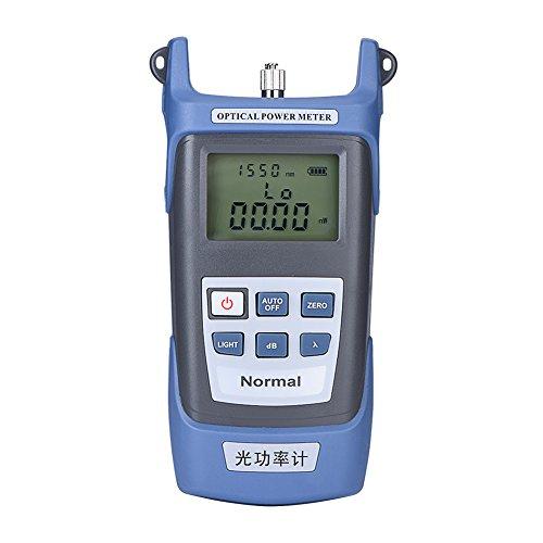 Optisches Leistungsmessgerät, Hochpräziser Glasfaser-Messgerät Faser LWL Optischer Kabel Tester -70dBm - 10dBm, Wellenlängenbeich 850-1625nm