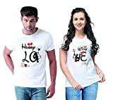 Men's & Women's Regular Fit T-Shirt (Pack of 2) (ANDE1002 White Medium, Small)