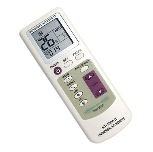 Mando Universal para Aire Acondicionado y Bomba De Calor - A/C con Pantalla Digital Control de Temperatura Controlador a Distancia de Splitter Climatizador Control remoto Multifuncion Calefaccion