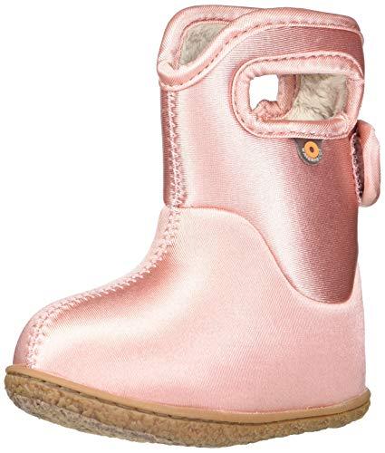 BOGS unisex child Baby Bogs Waterproof Snowboot Rain Boot, Metallic-ballet Pink, 10 Infant US