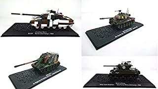 - Set of 4 Military Tanks M4A3 Germany + Germany Chieftain + M41A3 Walker Bulldog + AMX at F-1 (ref: A4-A5-A88-A50)