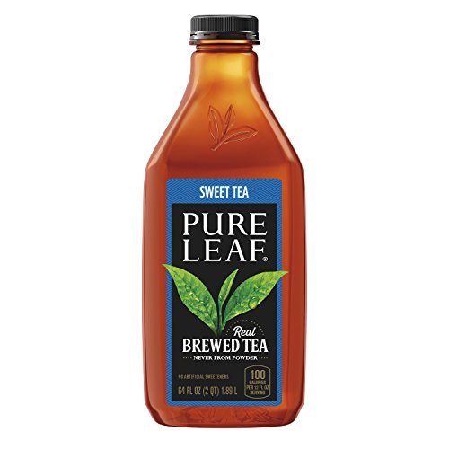 of popular iced tea brands Pure leaf Iced Tea, Sweetened, Real Brewed Tea, 64 oz Bottle