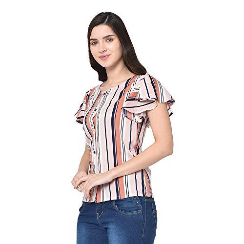 KITTYBEES Stylish Fancy Multicolour Striped Top for Women – Beautiful...