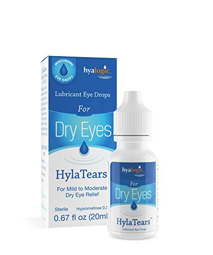 Hyalogic HylaTears Lubricant Eye Drops | Hyaluronic Acid Dry Eye Relief Lubricant Eye Drops | Extra Moisturizing Eye Drops | Multi-Symptom Eye Relief | (20mL) 0.67 Fl. Oz.