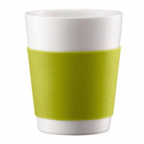 Bodum 10108-565 Canteen 2 Stück Tasse, doppelwandig, 0.1 l, Porzellan