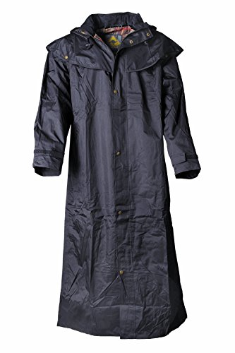Black Roo Stockman Coat - Abrigo, varias tallas disponibles, color - Noir, tamaño Small