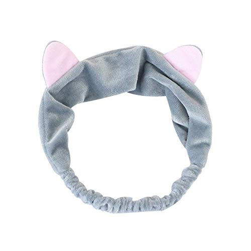 N/K Katze Ohr Stirnband Frauen Mädchen elastisches Haarband Gesicht waschen Headwear Geschenk langlebig und nützlich