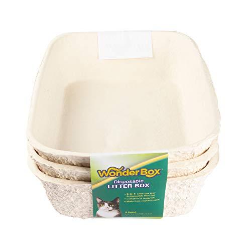 Kitty's Wonderbox Disposable Litter Box, Medium, 3-Count,...