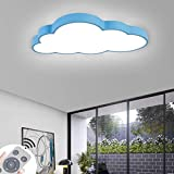 BFYLIN 48W Dimmerabile LED luce di soffitto lampada moderna del soffitto disimpegno camera da letto della lampada salotto energetico cucina risparmio di luce (blu-Nuvole 48W Dimmerabile)