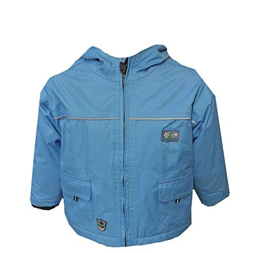 Outburst - Winterjacke Skijacken Jungen Fleece wasserdicht winddicht atmungsaktiv, blau, Größe 80