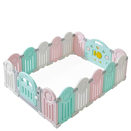 Great Features Of Play Pen Foldable Baby Playpen Baby Safe Home Crawling Baby Toddler Anti-Fall Prot...