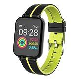 BOLORAMO Rastreador de Actividad FíSica, Reloj Inteligente Rastreador de Actividad A Prueba de Agua Pantalla A Color Bluetooth Pulsera Inteligente Pulsera con Monitor de Frecuencia CardíAca(Verde)