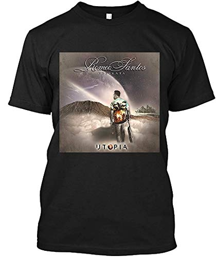 YoungerMan Tees Utopia-Romeo Santos T-Shirt for Men Woman,Black,X-Large