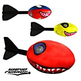 Wave Runner Whistle Footballs Sports Vortex Aero Howler Toy Pro Foam Throw like Arrow See Fly like a Missile Set of 2 Styles Whistling Dart Footballs For Kids footballs (Any Shark)