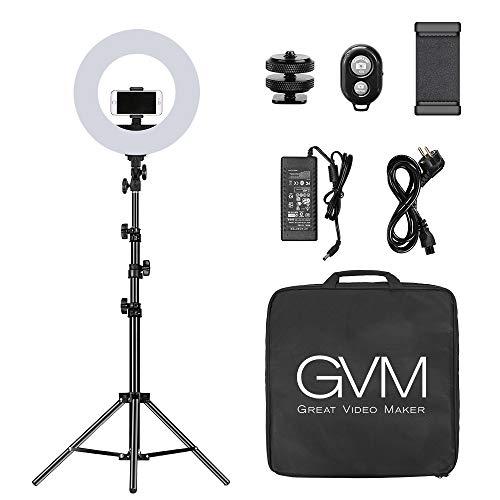 Anello luminoso a LED con Bluetooth, 3200K-5600K anello luminoso per selfie, luce selfie per Trucco Fotografia Youtube Tik Tok Video