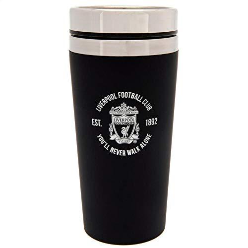 リバプール フットボールクラブ Liverpool FC オフィシャル商品 Executive トラベルマグ タンブラー (ワンサイズ) (ブラック)