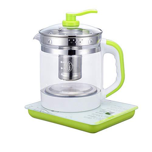 Teekocher Elektrisch 2 in 1-Tee-und Wasserkocher 1.8L Automatic Tea Maker Brüh-Funktion (Teeaufbereiter),Permanent Edelstahl-Teefilter, Multifunktionale gesundheitsschonende Teekanne B