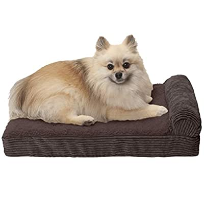 Furhaven Pet Dog Bed   Therapeutic Traditional Sofa-Style Deluxe & Goliath Chaise Living Room Couch Pet Bed w/ Removable Cover for Dogs & Cats - Available in Multiple Colors & Styles