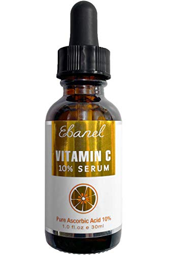 Ebanel Vitamin C Serum for Face with Hyaluronic Acid 10%, Anti Wrinkle Anti Aging Serum Dark Spot Corrector Remover for Face, Even Tone Brightening Serum with Ascorbic Acid, Vitamin E B5, Ferulic Acid
