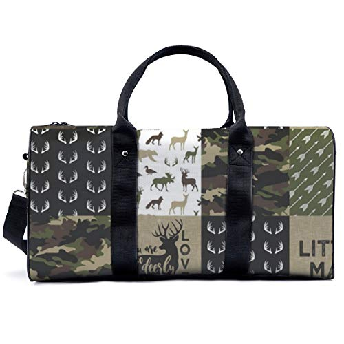 Bolsa de deporte para gimnasio, Little Man Woodland Wholecloth C camuflaje bolso de yoga bolsa de hombro bolsa de fin de semana bolsa de viaje bolsa de viaje para hombres y mujeres