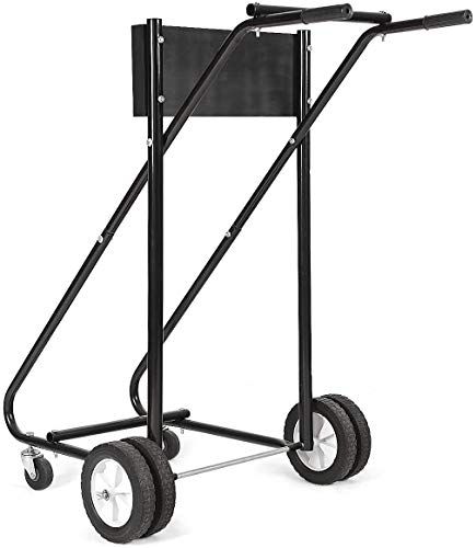 ARLIME Outboard Boat Motor Stand, 315 LBS Heavy-Duty Outboard Engine Carrier Cart Dolly Storage for Motor Transportation - Black