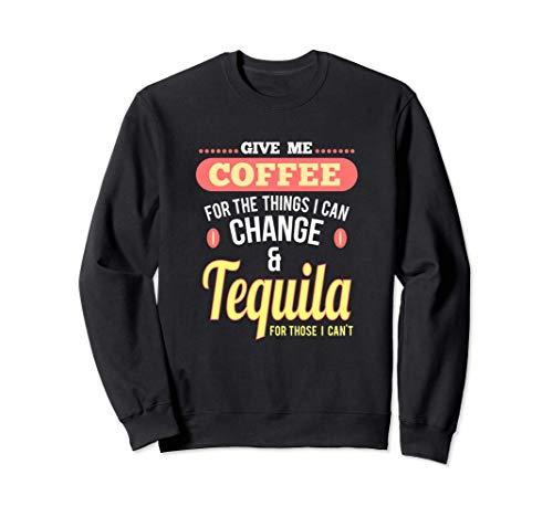 Spaß Kaffee und Tequila Shots Margarita Drinks Sweatshirt