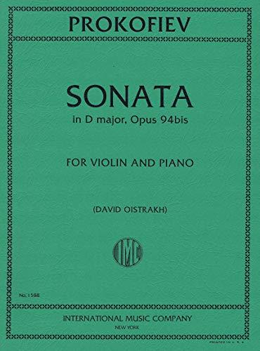 PROKOFIEV, Sonata in D Major, Opus 94bis for Violin and Piano (OISTRAKH, David)
