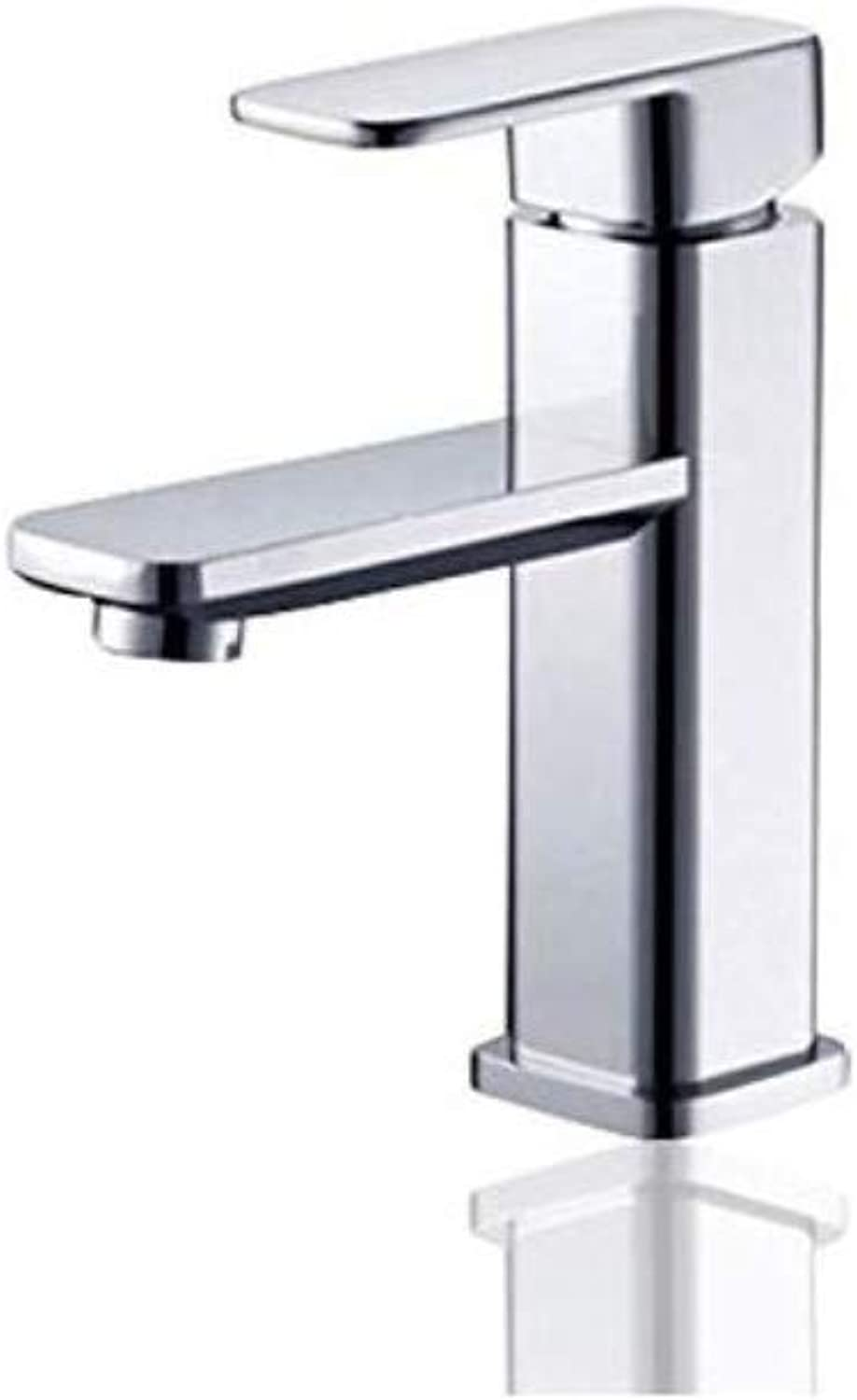 Modern Plated Kitchen Bathroom Faucet Copper Hot and Cold Basin Faucet Hotel Bathroom Cabinet Bathroom Wash Basin Sink Basin Faucet