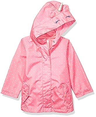 Carter's Girls' Little Favorite Rainslicker Rain Jacket, Unicorn Pink, 6X