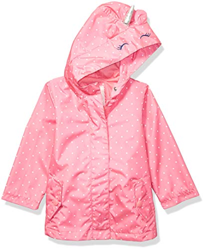 Carter's Girls' Little Favorite Rainslicker Rain Jacket, Unicorn Pink, 5/6