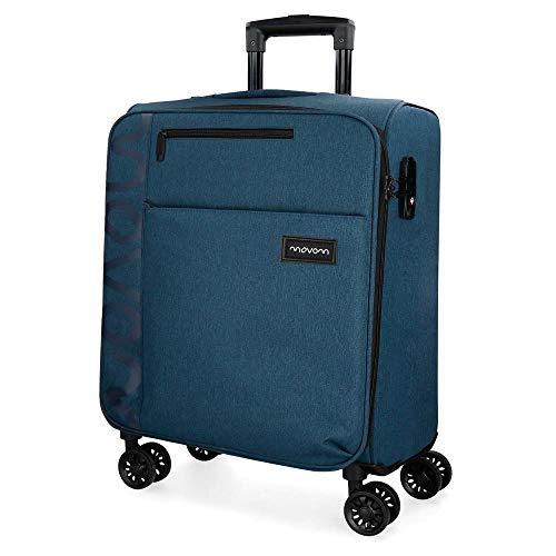 Movom Oslo Maleta de cabina Azul 40x55x20 cms Blanda Poliéster Cierre TSA 36L 2,9Kgs 4 ruedas dobles Equipaje de Mano