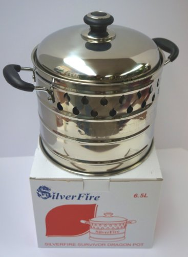 SilverFire Pot Stainless Steel Dragon for Rocket Wood Burning Stove
