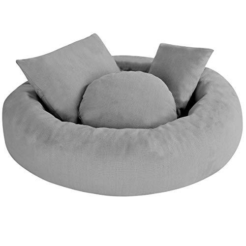 DaMohony - Set di accessori fotografici per neonati e neonati, per fotografie, ausilio professionale per la posa del bambino (1 cuscino ad anello per ciambella + 3 cuscini)