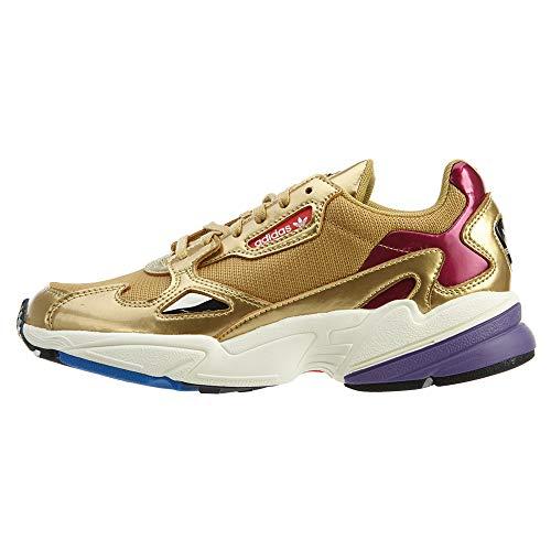 Zapatillas deportivas Falcon de Adidas Originals para mujer, dorado (Oro metálico/Blanco desteñido.), 36 EU