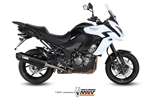 Mivv K.040.LRB KAWASAKI Versys 1000 2015 > SLIP-ON AUSPUFF SPEED EDGE STEEL BLACK