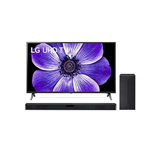 LG 43UN71006LB 108 cm (43 Zoll) UHD Fernseher (4K, Triple Tuner (DVB-T2/T,-C,-S2/S), Active HDR, 50 Hz, Smart TV) [Modelljahr 2020] + Soundbar LG DSN4