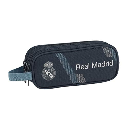 Safta 231190 Real Madrid 2 Estuches 21 cm, Azul
