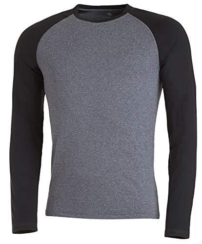 Medico Camiseta interior térmica de manga larga para hombre, Hombre, gris y negro, large