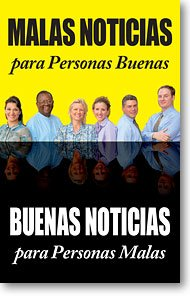 Bad News for Good People Good News for Bad People  Gospel Tract Packet of 100 Spanish